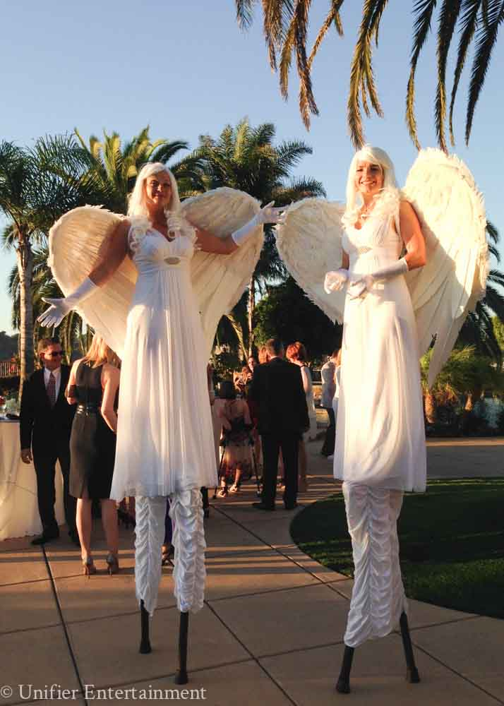 Christmas Angels Stilt Walkers