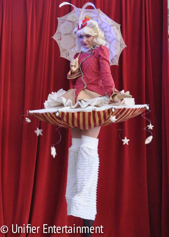 Cute Stilt Walker Circus