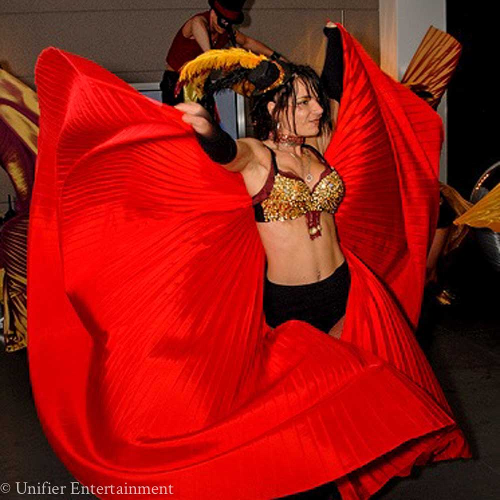 Mardi Gras Gossamer Wings Red
