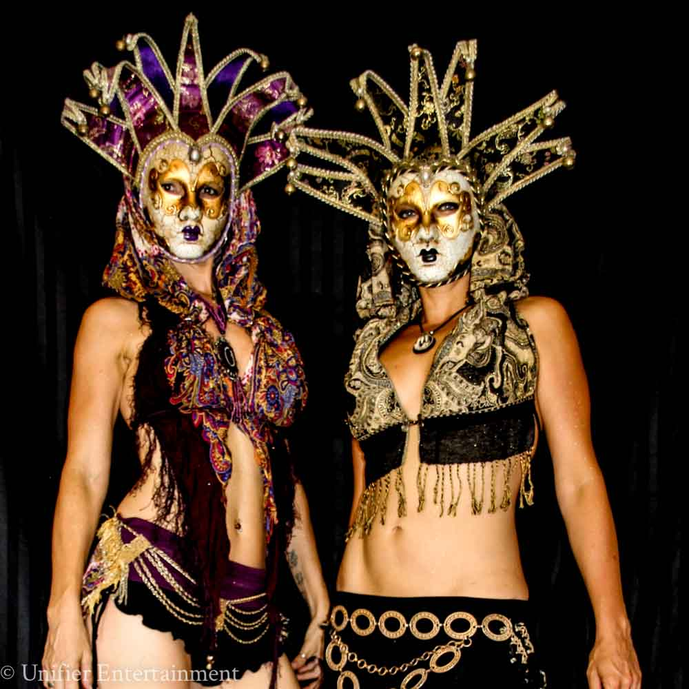 Mardi Gras Mask Ladies