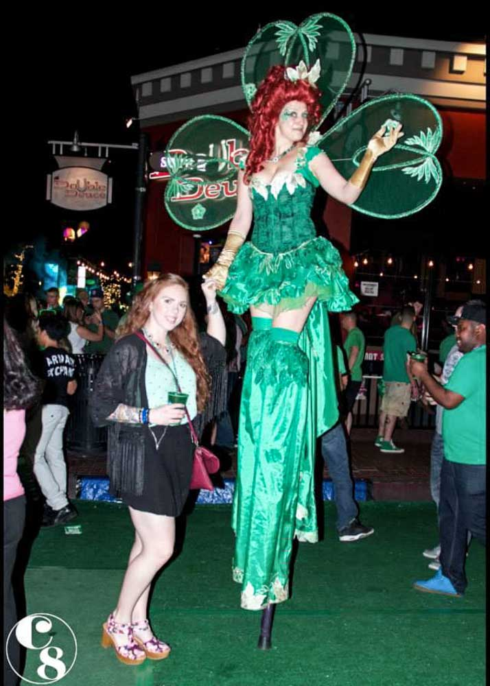 St  Patricks Day Stilt Walker