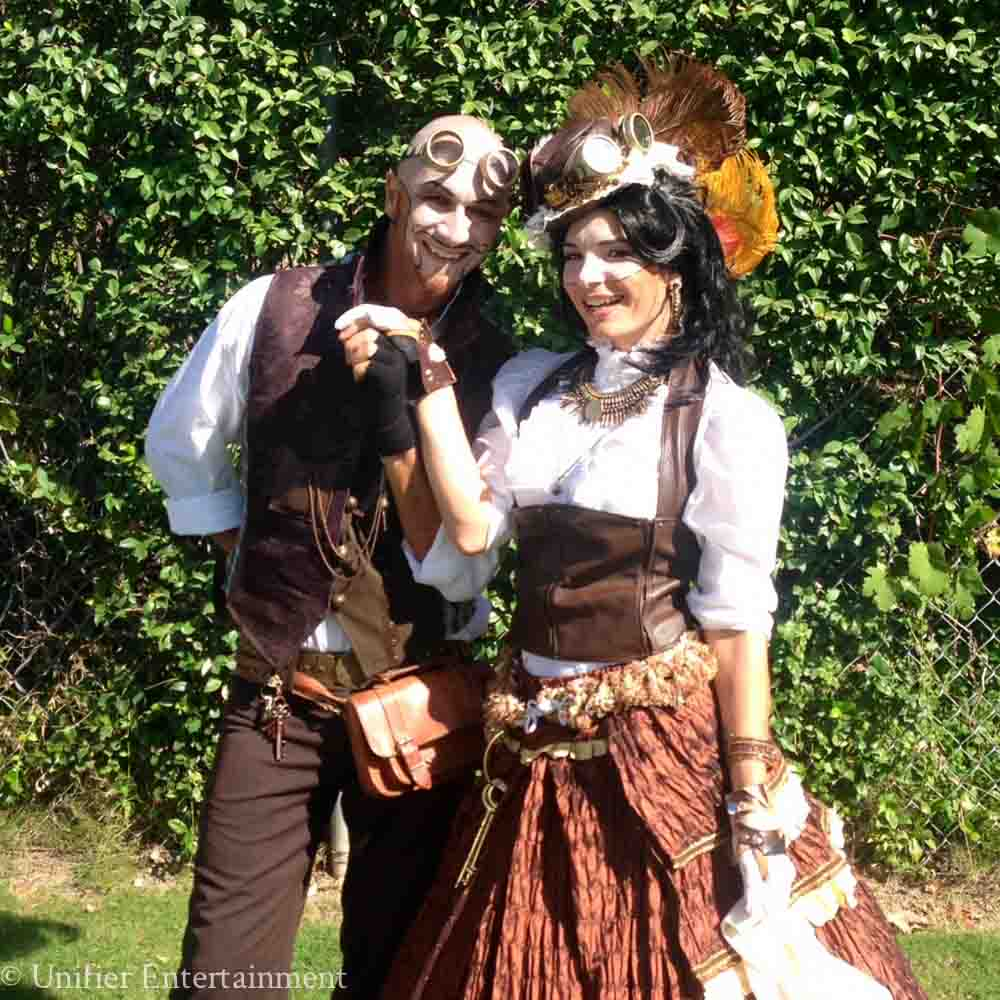 Steampunk Couple Performers Los Angeles