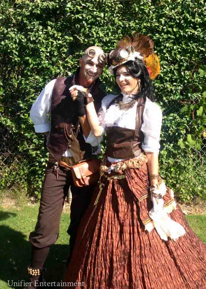 Steampunk Couple Performers San Diego