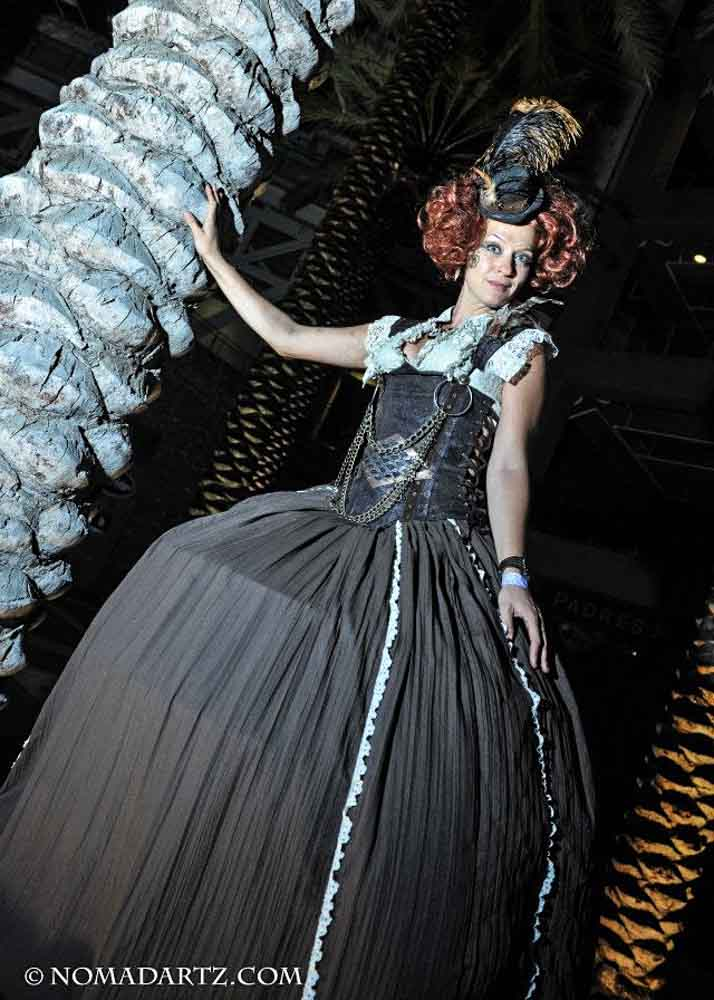 Steampunk Lady Stilts