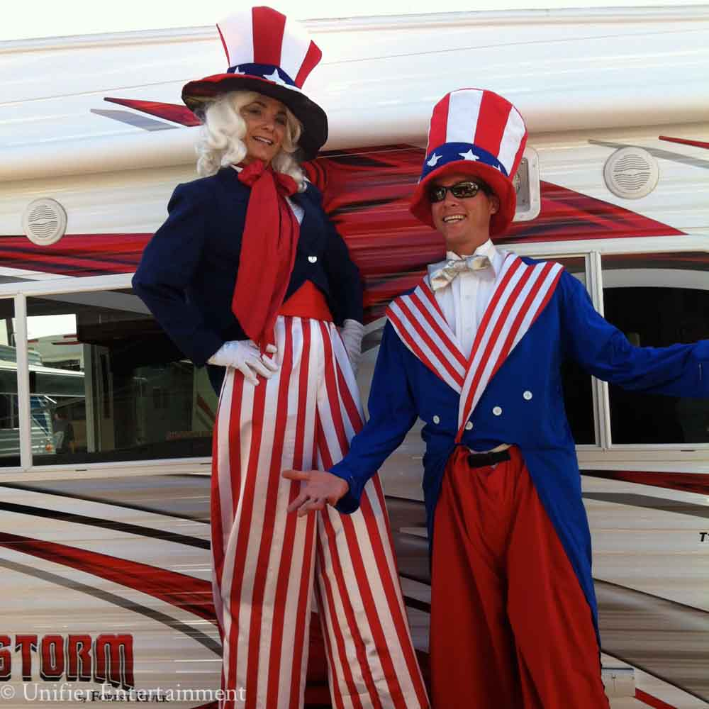 UncleSam Stilt Walkers